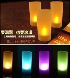 LED candle light 7 colors changing candle wedding or party