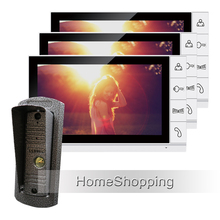 New Wired 9″ Color Screen Video Door phone Intercom System + 3 Monitors  + 1 Waterproof Door bell Camera In Stock Free Shipping
