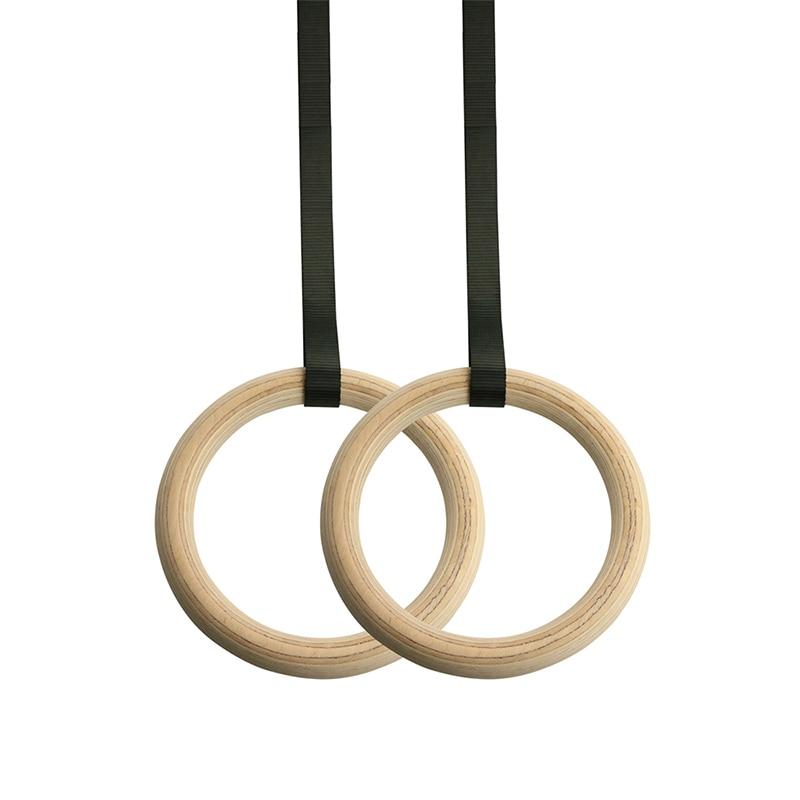 1 paire Bois Anneaux De Gymnastique Gym Anneaux avec Réglable Longue Boucles bretelles D'entraînement Pour Crossfit Pull Up | Trempettes | Musculaire Ups