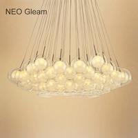 Ideal Glass Bubble Modern Led Pendant Lights For Living Dining Room Bedroom AC85 265V G4 Hanging