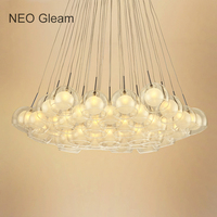 Ideal Glass Bubble Modern Led Pendant Lights For Living Dining Room Bedroom AC85 265V G4 Hanging