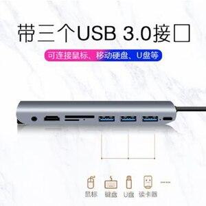Image 5 - 9 IN 1 di Tipo C A HDMI/VGA/Audio/USB3.0/TF/SD/PD Gigabit ethernet Multi funzione Multiporta Adattatore Per APPLE Macbook ANNUNCIO. SL. THV901