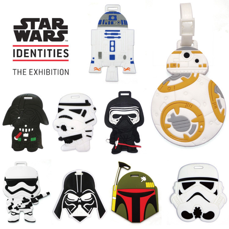1PC Luggage Tags Travel Bags Accessories Classic Lovely Cartoon Film Star Wars Stormtrooper & Black Knight Suitcase PVC Name
