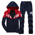 2016 Autumn Stand Collar Korean Style Hoodies Sweatshirt Men Fashion SportSuit Chandal Hombre Sporting Suit Mens Hoodie+Pants