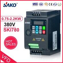 SAKO SKI780 Mini VFD 380V 0.75KW/1.5KW/2.2KW Variable Frequency Converter for Motor Speed Control Inverter
