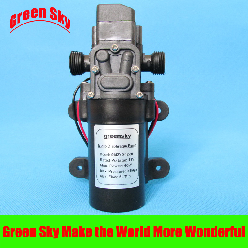 5L/Min DC12V 60W High Pressure Electric Diaphragm Pumps
