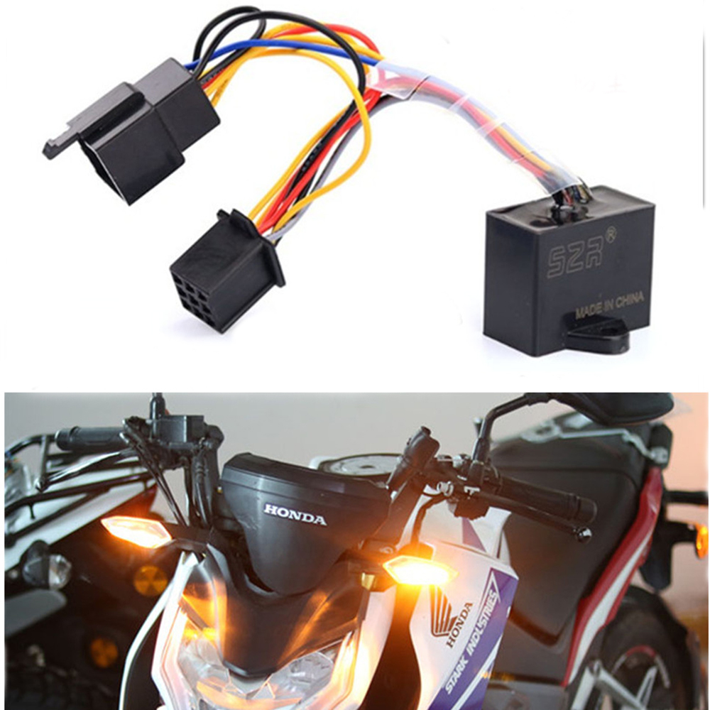 Motorcycle Turn Signal Flasher Light Switch Double Flash Function Flasher Module FOR HONDA CB190 CB190X CB190r CBF190 CBF190r