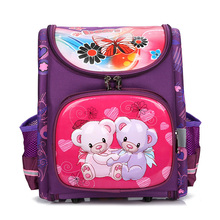 2019 Children School Bags Orthopedic School Backpacks for Girls Bear Butterfly Backpack Student Schoolbags Mochilas Grade 1-3 backpack for girls 3 pieces school bags mochilas escolares infantis backpacks for adolescent girl butterfly children s backpacks