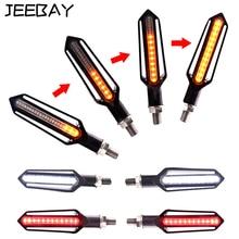 JEEBAY 4pcs Flowing Lighting Turn Signal Motorcycle Led Flasher Blinker Signals Lamps DRL Indicator Light