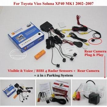 For Toyota Vios Soluna XP40 MK1 2002~2005 2006 2007 Car Parking Sensors Rearview Camera Sensor Reverse Auto Alarm System