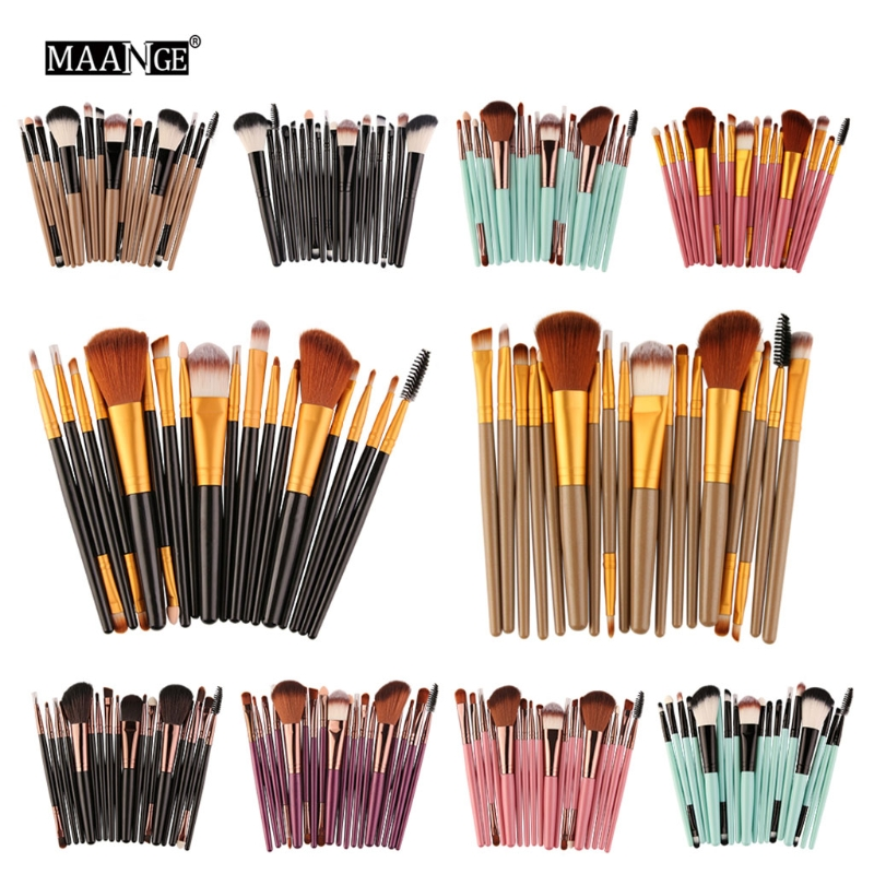 18 Pcs Make Up Brush Set Natural Super Soft Red Goat Hair & Pony Horse Hair Studio Beauty Artist Makeup Brushes тушь make up factory make up factory ma120lwhdr04