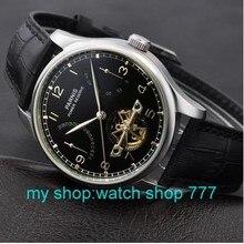 Парнис смотреть 43 мм power reserve чайка st2505 движение Автоматический Self-ветер мужские часы Высокого качества Часы оптом x00066