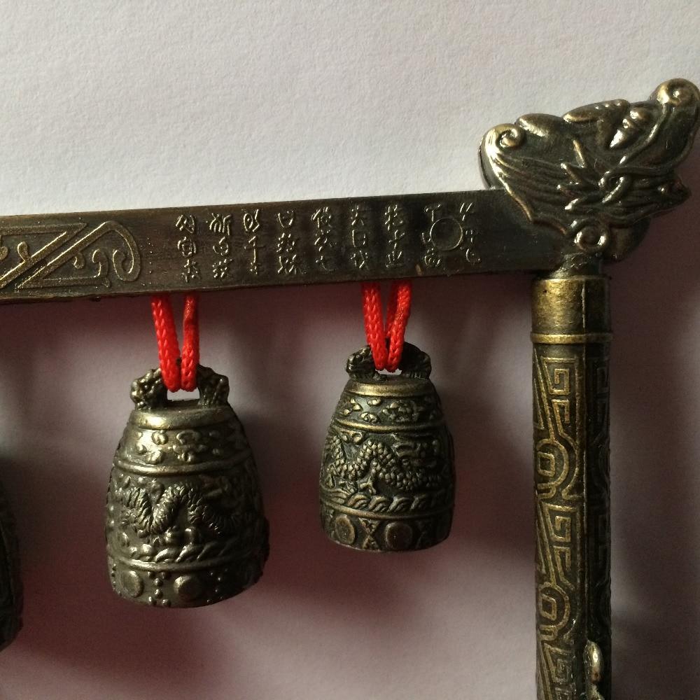 Meditation Gong with 5 Ornate Bells 4