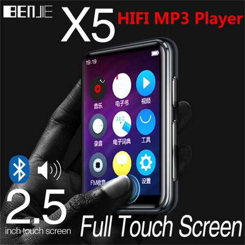 MP3 Player Bluetooth5 0 Original BENJIE X5 Built in Speaker Full Touch 2 5 Inch Screen