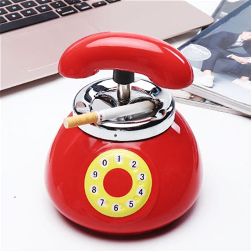 Creative Vintage Tide Phone Ashtray Personality Ceramic Vents Fashion Gift Ash Tray Cigarette Ashtray Ceramic Ashtrays With Lids