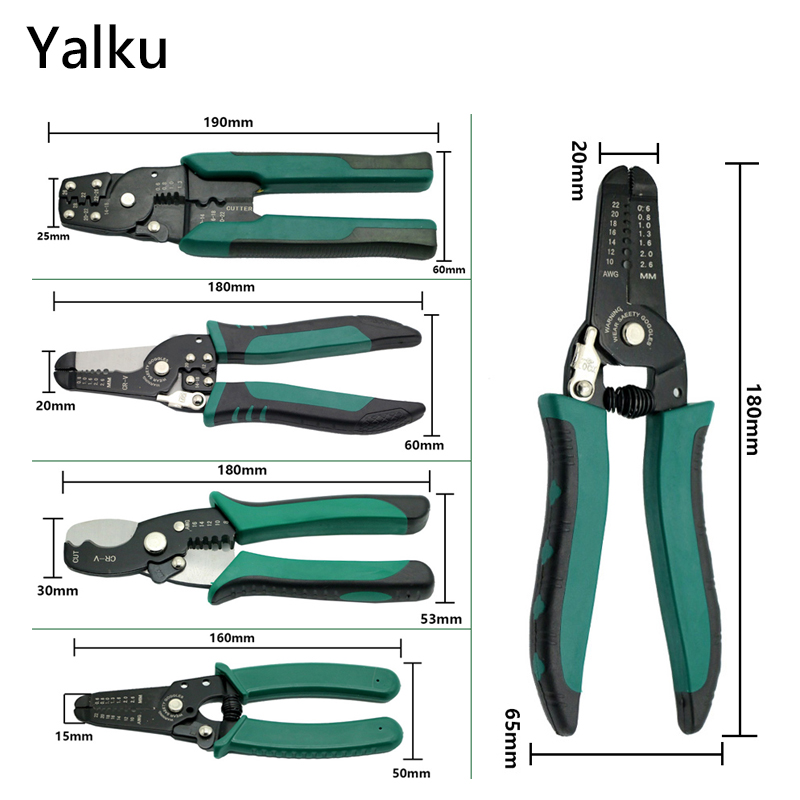 Yalku Multitool Pliers Hand Tool Crimping Tool Wire Stripper Side Cutter Side Cutter High Quality Pliers Electrician Cable Wire high quality mk bxq 80b cable wire stripper cutter tool wire pliers clamp china