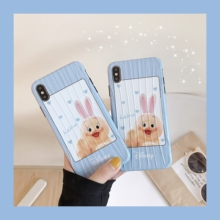 Minimum anime phone case for iphoneX XS XR XsMax Cute chick Pattern Trunk Fashion style  iPhone6 6s 7 8 Plus case IMD back cover все цены