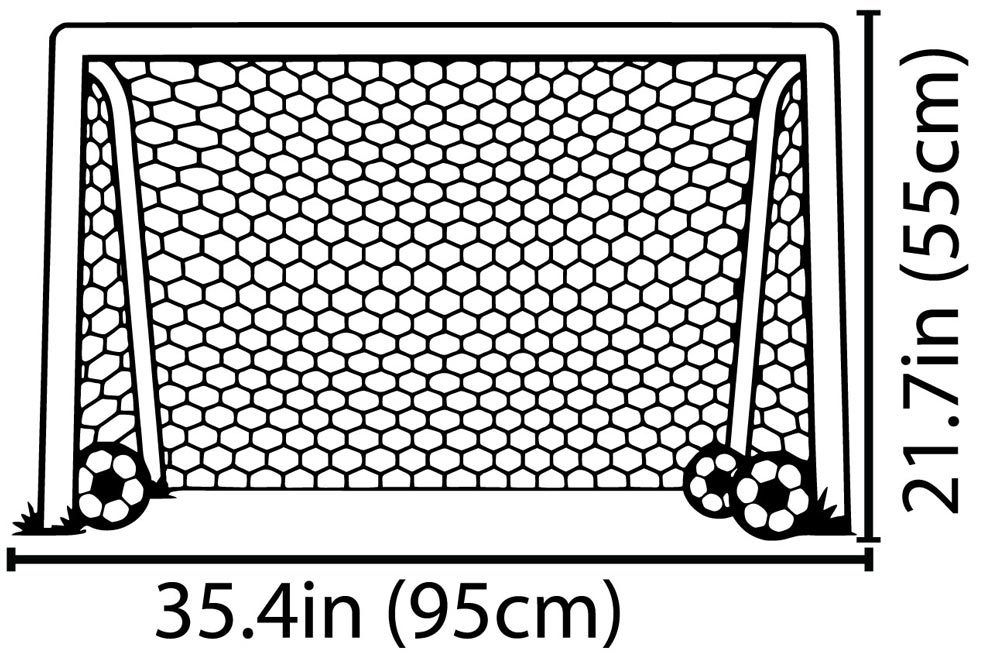 Carved Goal Net Ball Sports Soccer Football Wall Sticker Art Decal Vinyl Home Decor Stickers Meta Decals ES 35 in Wall Stickers from Home Garden