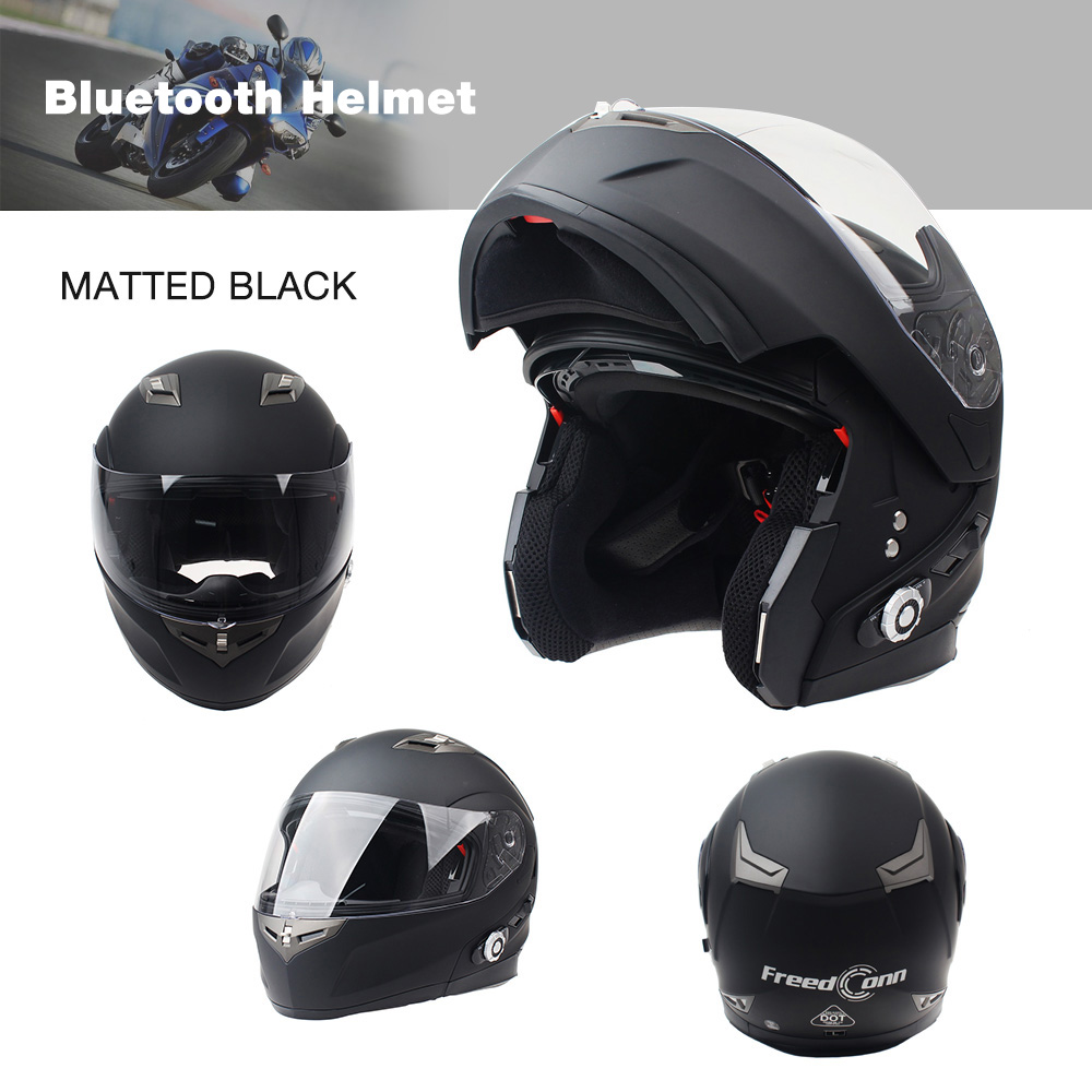 2017 Brand Smart Bluetooth Motorcycle Helmet Built In Intercom System Dot Standard 3 Riders Bt Talking With Fm Radio Headsets From