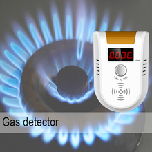GD11 Digital LED Display Combustible Gas Detector Alarm Independent Home Security Flash Gas LPG Sensor Detector