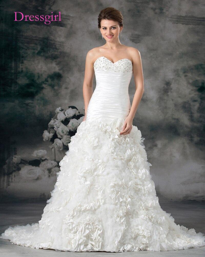 Peru Vestido De Noiva 2017 Vestidos de Casamento Da Sereia do Querido Ruffles Boho Frisado Plus Size Vestidos de Casamento Vestido de Noiva