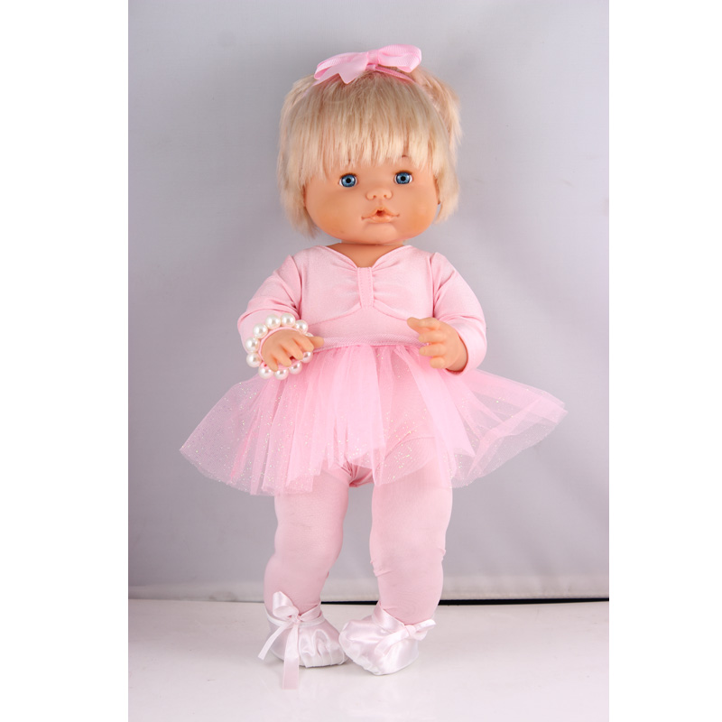 Clothes For Dolls Fit 41cm Nenuco Doll Nenuco Y Su Hermanita 6-pieces Pink Ballet Dance Outfits Set With Headband Bracelet Shoes