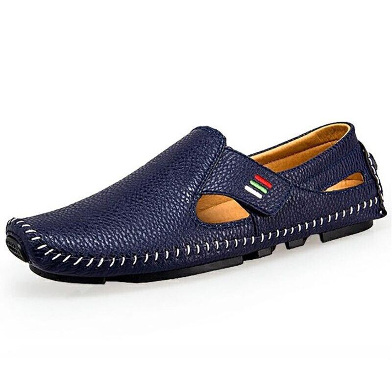 Men Sneakers Moccasins Casual-Shoes Men's Loafers Plus-Size Fashion Sandals Flats Non-Slip