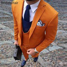 25637acbd KUSON de trajes naranja vestido Formal traje de los hombres de trajes de  boda esmoquin de novio 3 piezas 2018 (chaqueta + Pantal.