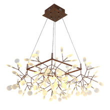 Creative tree branch led pendant light post modern Square 85cm shape firefly led lamp PMMA bat black gold body Kung high quality(China)