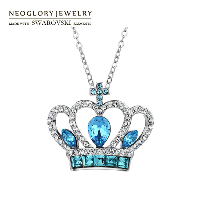 Neoglory Austria Crystal Auden Rhinestone Pendant Charm Necklace