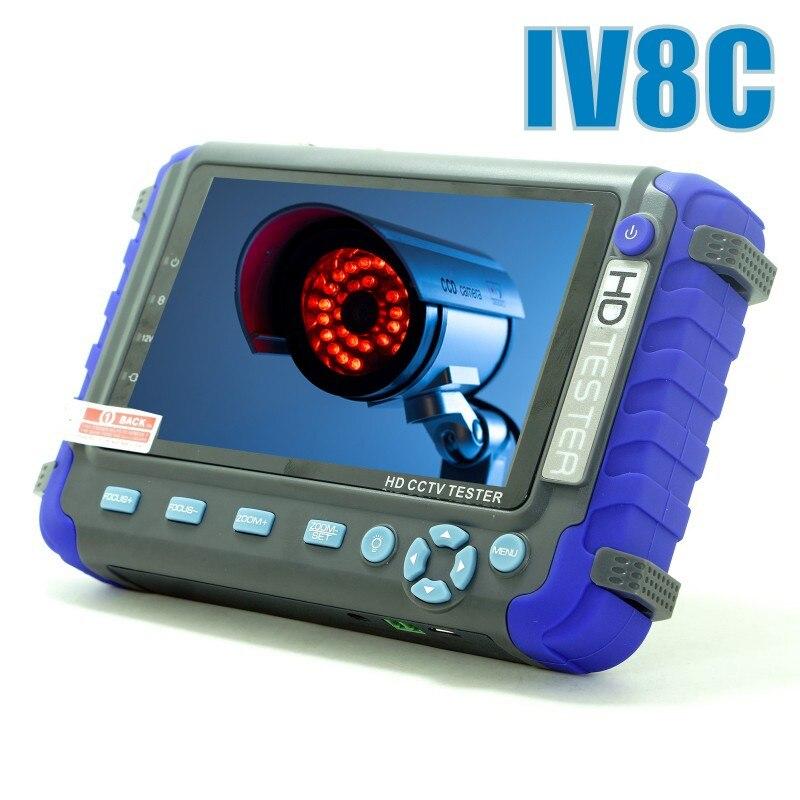 Amélioré 5MP 4MP AHD TVI CVI CVBS Analogique Caméra De Sécurité Testeur Moniteur IV8C IV7W HD Testeur CCTV avec PTZ UTP câble d'essai