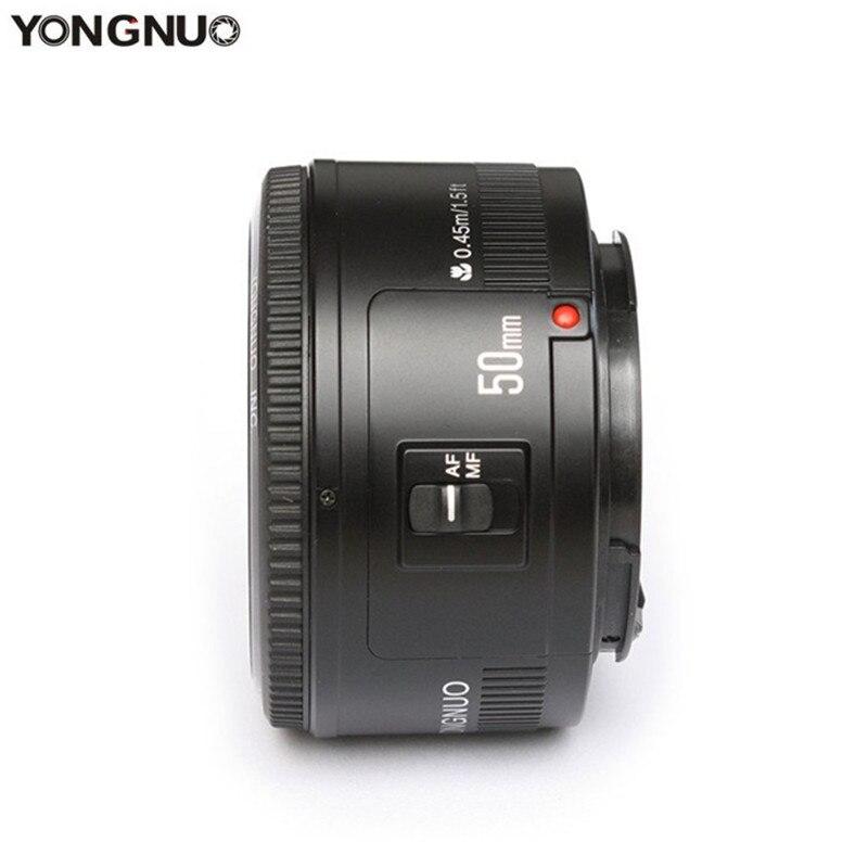 YONGNUO YN50mm YN50 F1.8 objectif de l'appareil photo EF 50mm AF MF ouverture de l'objectif pour Canon EOS rebelle T6 700D 750D 5D 6D Mark II IV 10D Dslr Len
