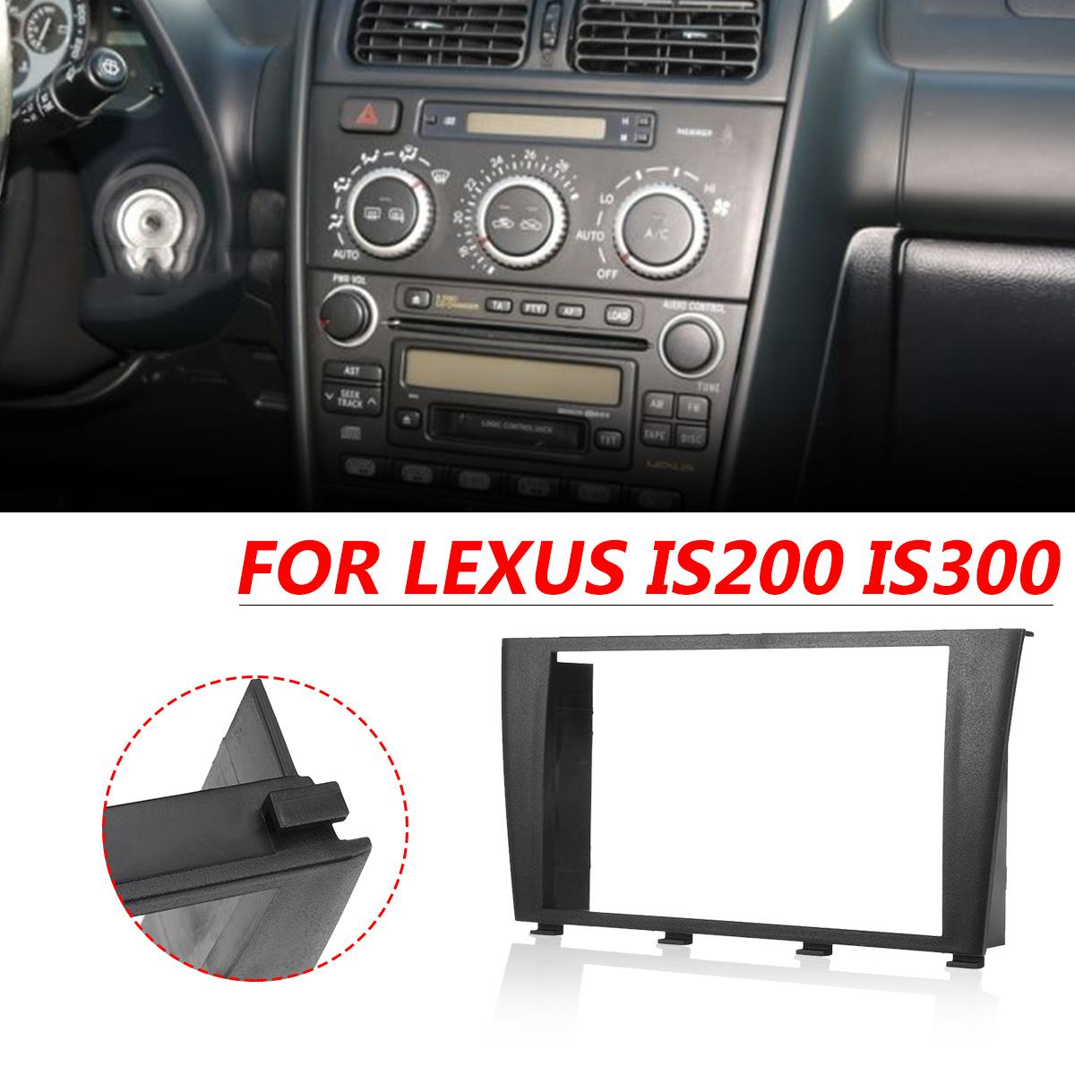 CD Radio Stereo Facia Fascia Fitting Kit Surround ISO Lead For <font><b>LEXUS</b></font> IS200 <font><b>IS300</b></font> 1995-2006 For Toyota <font><b>Altezza</b></font> Frame Console image