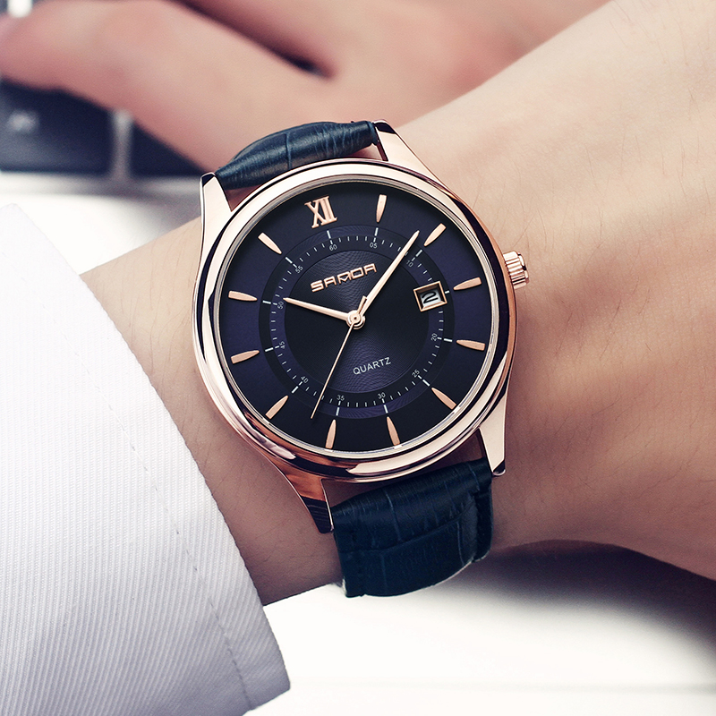 Fashion Simple Leather Mens Watches Quartz Wrist Watch Top Brand Luxury Business Waterproof Male Watches Men Relogio Masculino