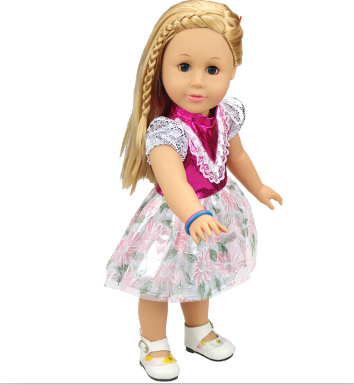 Free shipping hot 2014 new style Popular 18 American girl doll clothes dress b867