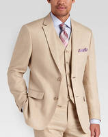 High Quality Beige Wedding Prom Tuxedos Formal Business Best Men Suits 2016 Tailor Made 3 Pieces Grooms Wear Morning Clothing