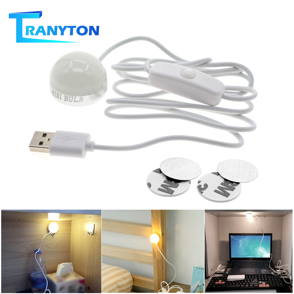 LED Book Light USB Powered 2W Mini Energy Saving LED Bulb for Study Room Student Dormitory Creative Design Portable Reading Lamp