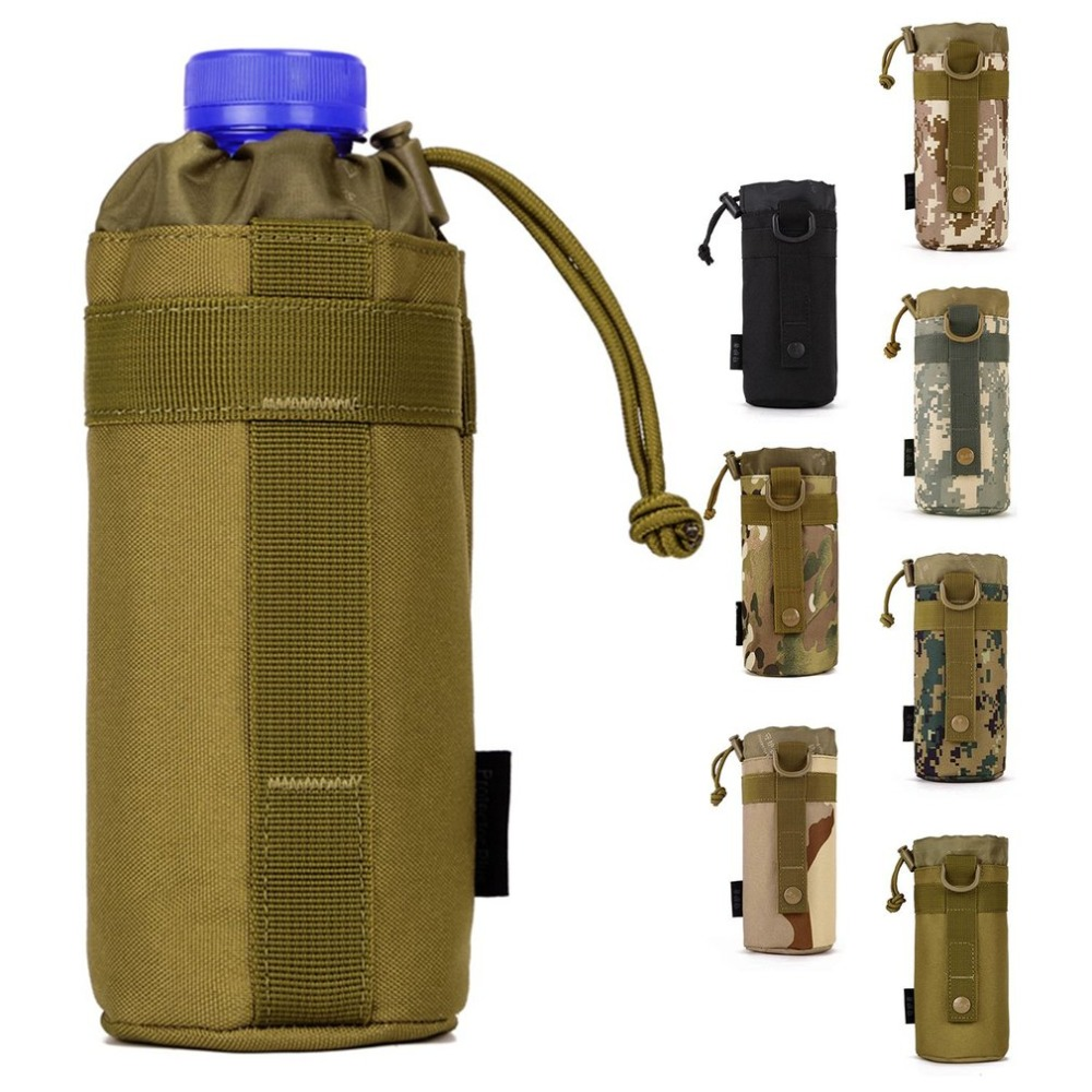 New Military Molle Tactical Travel Water Bottle Flask Pouch Carry Bag