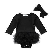2018 High Trend For Bebek Toddler New child Child Woman Tulle Lengthy Sleeve Lace Tutu Velvet Romper Jumpsuit Outfit Garments Headband