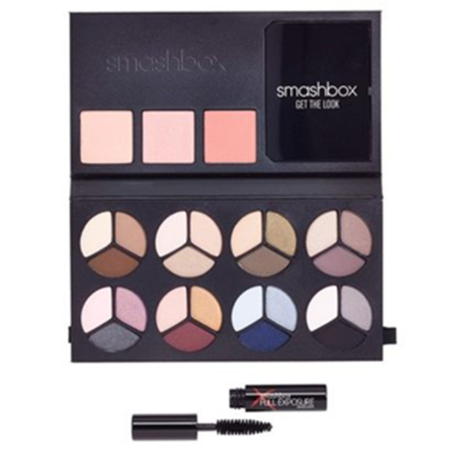 Real Photo Op Mega Palette 8 makeup eyeshadow 3 blush 1 mascara with makeup brushes full exposure double exposure