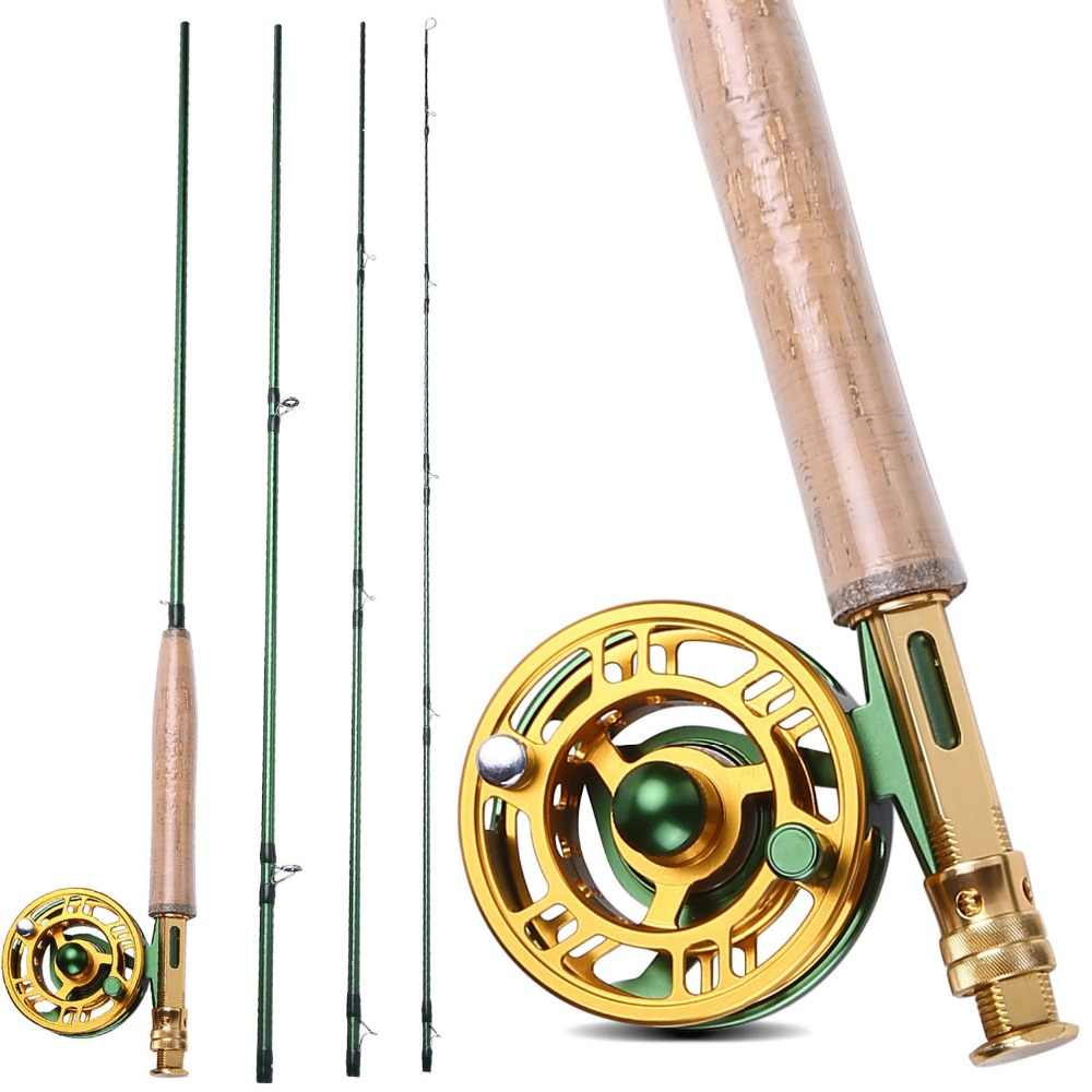 Sougayilang 2 7m Fly Fishing Rod Reel Combo Lightweight Portable Fly Rod And Cnc Machined Aluminum Alloy Fly Reel Kit Set Rod Accessories Tackletackle Lures Aliexpress