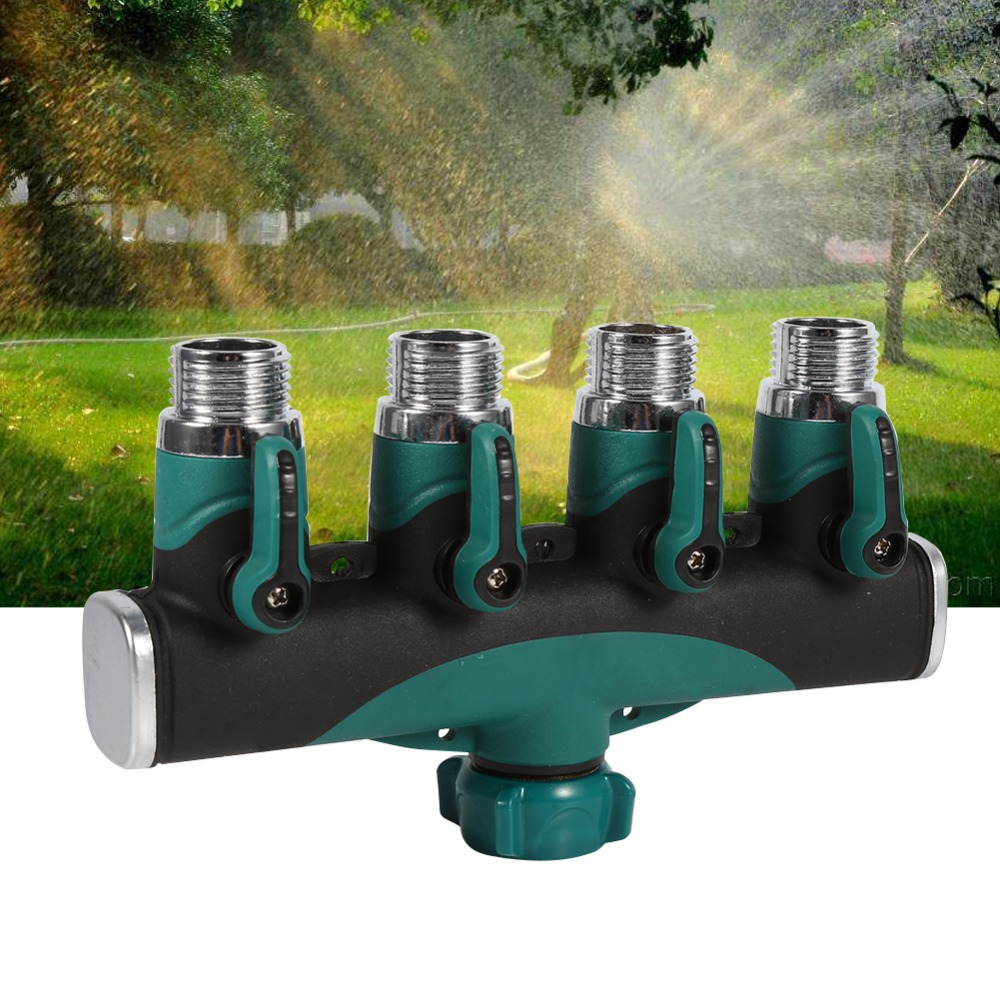 4 Way Water Tap Converter Connector Splitter Hose Pipe Adapter ...