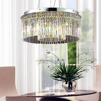 Dining Room E14 Led Bulb Full Crystal Light Chandelier Led Pendientes Kitchen Bar Lamp Bedroom Restaurant