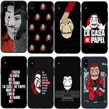 La Casa De Papel чехол для телефона чехол для iPhone 11Pro 5S SE 6 6S Plus 7 8 8Plus XS MAX XR Мягкий силиконовый чехол для телефона