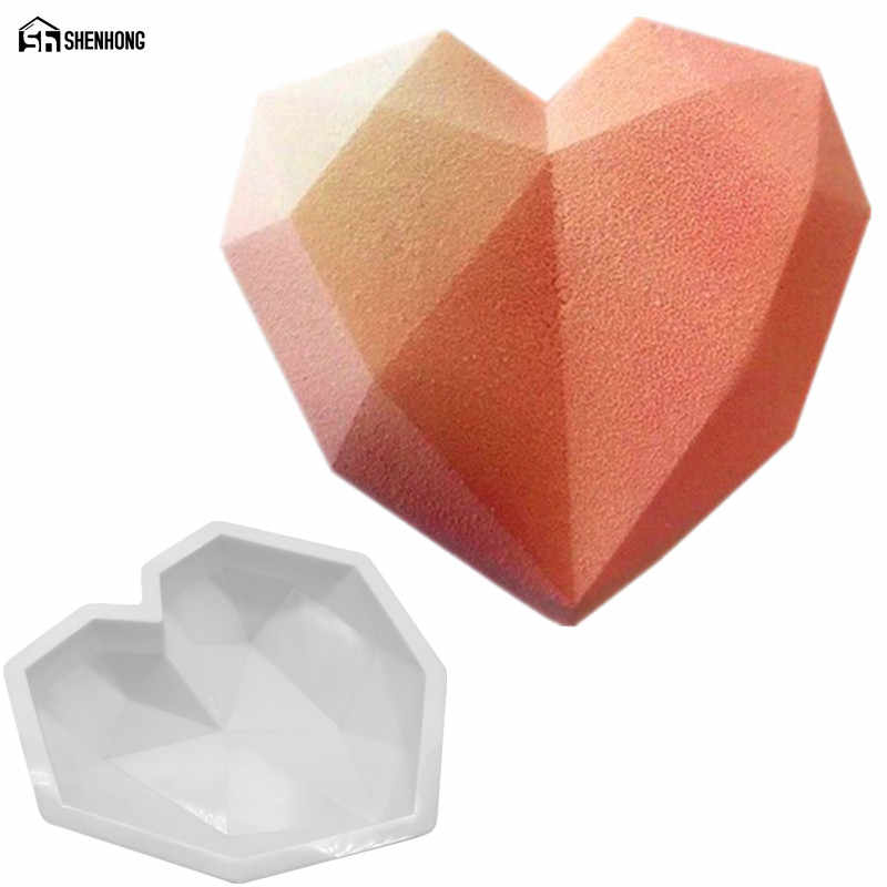 Shenhong изделий из 3 шт. Art формы торт Пан 3D блок сетки облака со стразами сердце силиконовые формы мусс силиконовй шоколад Моул выпечки