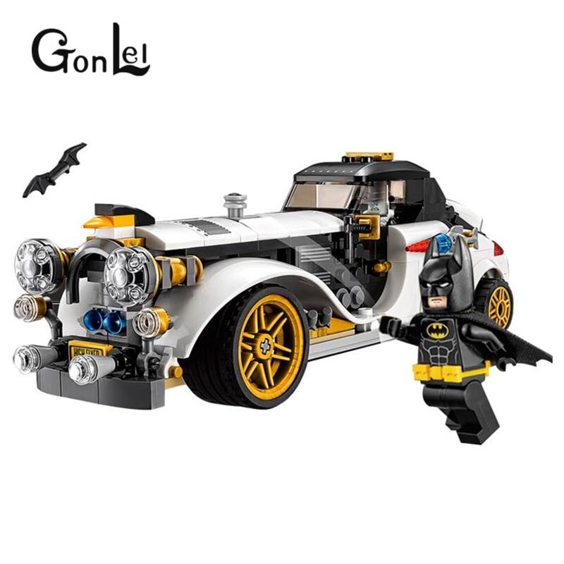 все цены на GonLeI 2017 New 07047 Batman Movie The Penguin Arctic Roller Penguin Man-Bat Building Block Toys Compatible Legoingly Batman