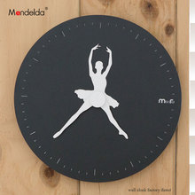2018 Mandelda Classic Quartz Watch Modern Creative Silent Swan Lake Ballet Art Wall Clock Decorative for Home,Office,Cafe,Club