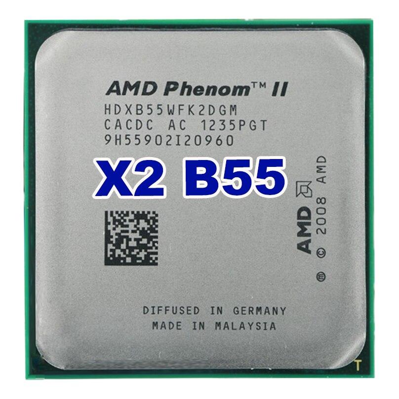 D'origine AMD Phenom II X2 B55/6 M/3.0G/AM2 +/AM3 ordinateur De Bureau processeur livraison gratuite