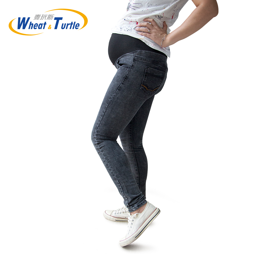 Promotion 2014 New Maternity Jeans Pants For Pregnant Women Plus Size Clothing Elastic Pregnant Pregnancy Clothes Motherhood  denim