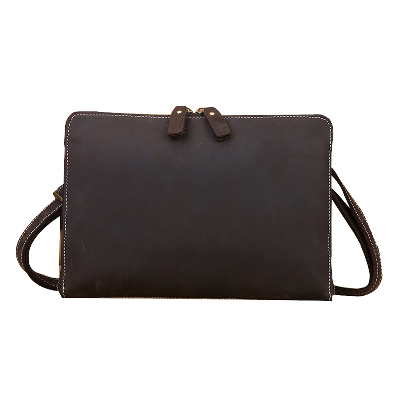 цена Leather File Folder Luxury Business Document Bag Filing Meeting Handbag Zipper Layer Pocket Office Briefcase Supplies Joy Corner